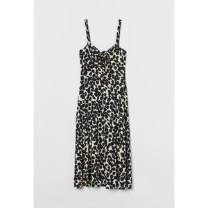 H&M Leopard Tie Detail Midi Dress
